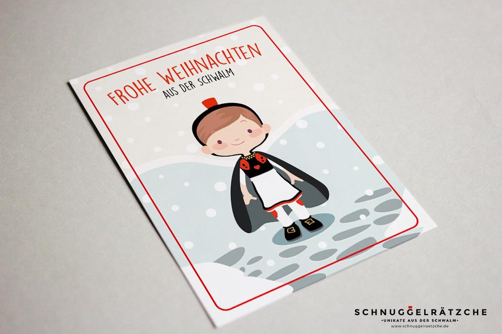 Postkarte Schwälmer Weihnachtsmädchen