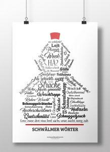 Poster Plakat Schwälmer Wörter Schwälmer Lieschen Schwälmer Mädchen