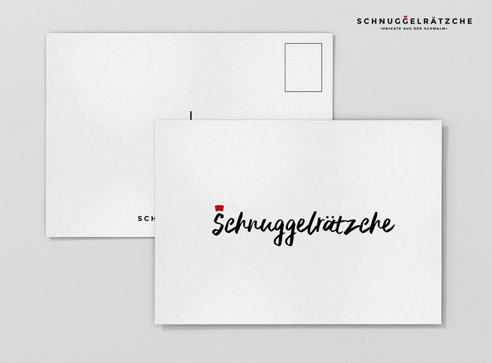 Postkarte Schnuggelrätzche