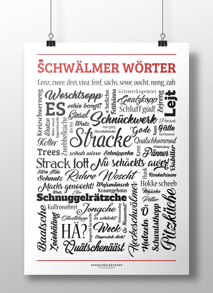 Plakat Schwälmer Wörter