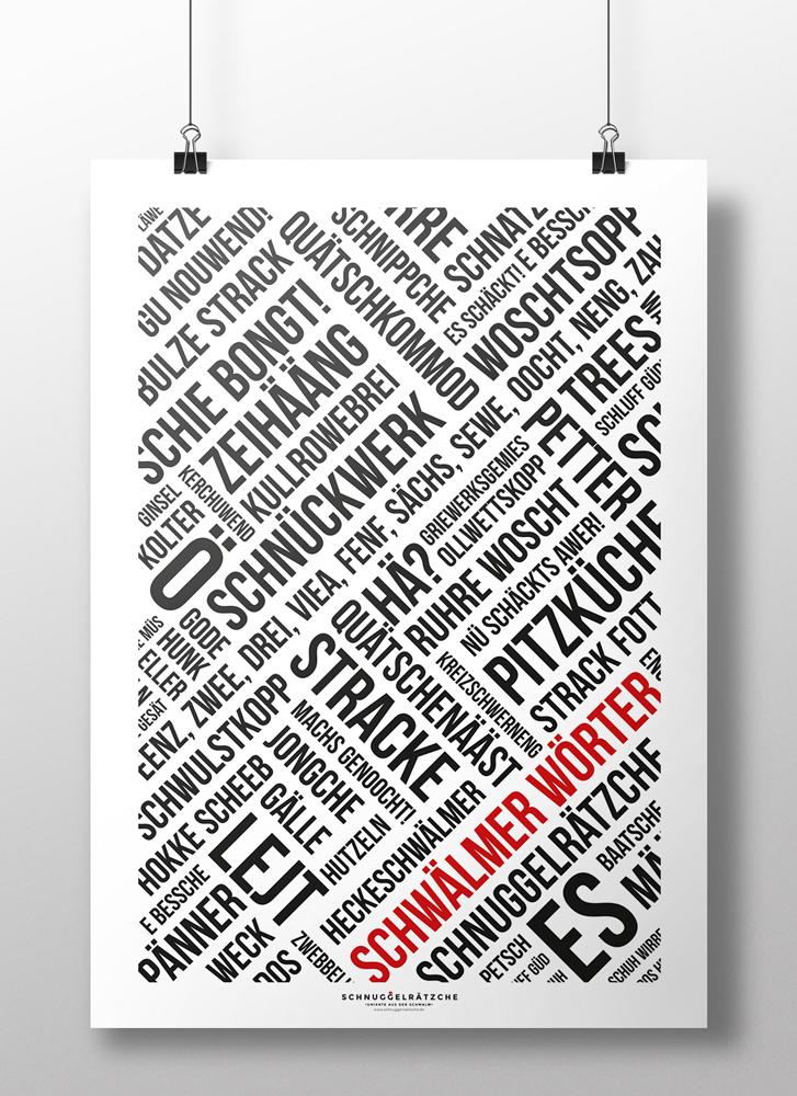 Plakat Schwälmer Wörter Modern