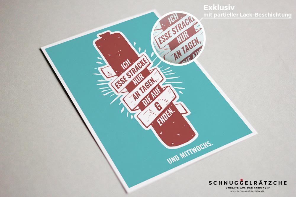 Postkarte Schwälmer Stracke