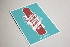 Schwälmer Postkarte Stracke Ahle Wurst
